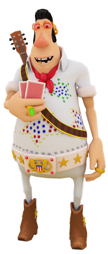 personnage d'Elvis créé par Gamblify