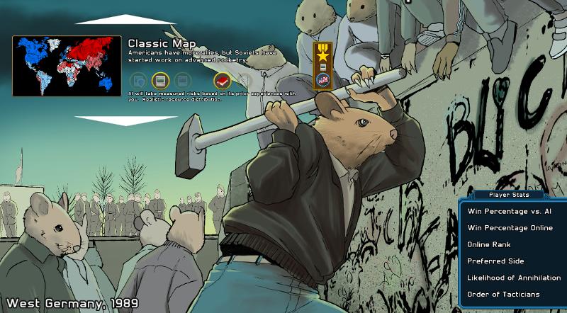 Page de menu du jeu Precipice