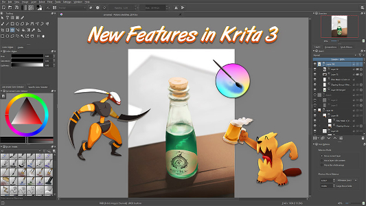 Poster du tutoriel New Features in Krita 3
