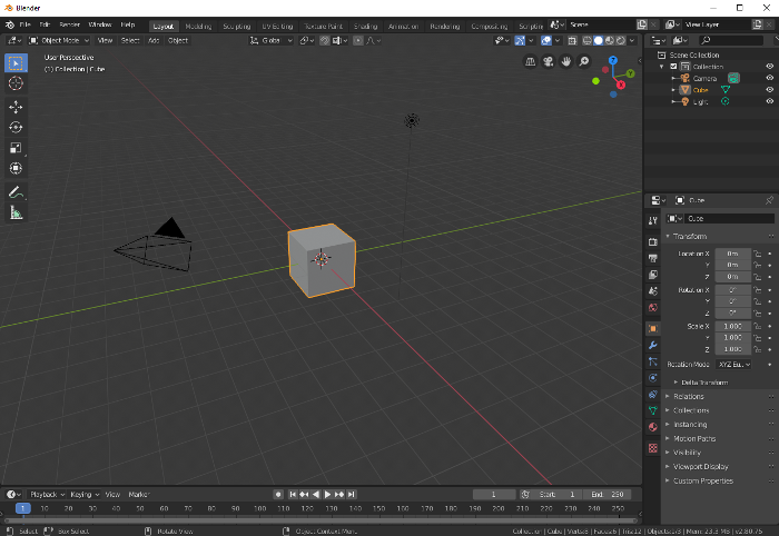 Nouvelle interface de Blender (2.8)