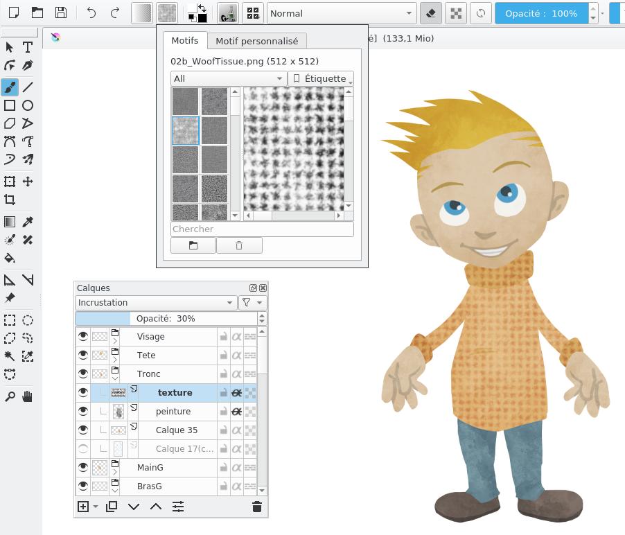 Image extraite du chapitre Préparer une animation en cut-out